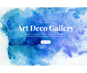 Art Deco Gallery ecommerce WP theme