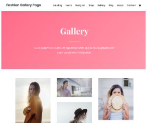Divi Fashion Gallery WordPress Theme