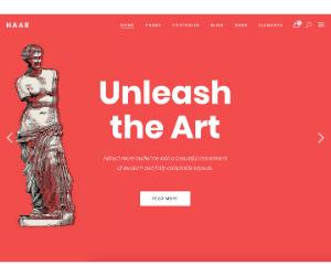 Haar Art Gallery WordPress Theme eCommerce
