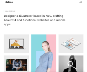 Oshine Portfolio WordPress Theme