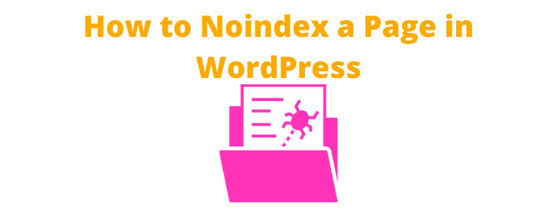 How to Noindex a Page in WordPress