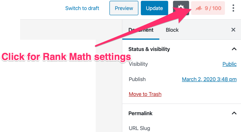 Noindex a Page in WordPress - Rank Math 1