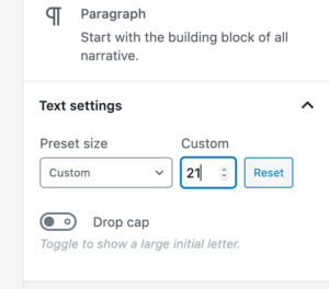 Change Font Size in WordPress Gutenberg - custom sizes