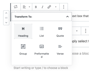 How to Change Font Size in WordPress - gutenberg editor 2