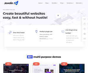 Jevelin AMP Ready WordPress Theme
